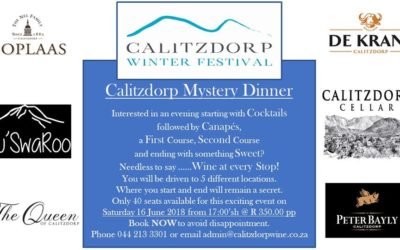 Calitzdorp Winter Festival – Mystery dinner